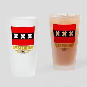 Amsterdam Flag Drinking Glass