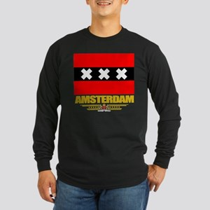 Amsterdam Flag Long Sleeve Dark T-Shirt