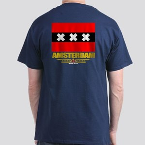 Amsterdam Flag Dark T-Shirt