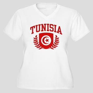 Tunisia Women's Plus Size V-Neck T-Shirt