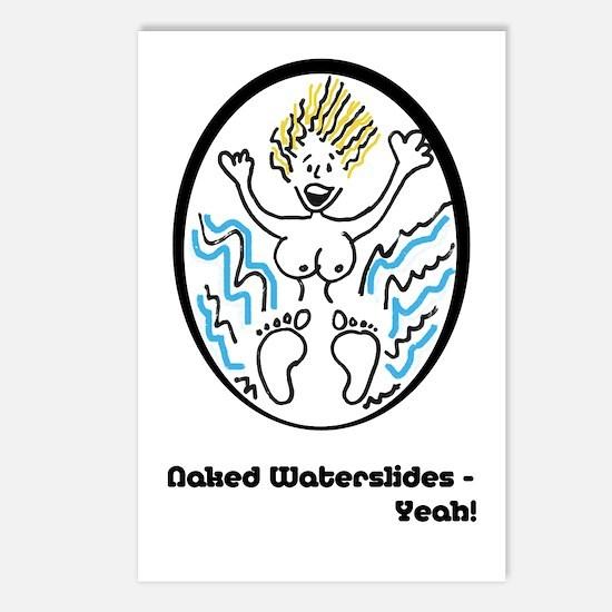 Naked Waterslides - Yeah! Postcards (Package of 8)