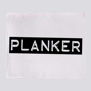 Planker Label Throw Blanket
