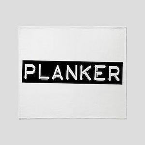 Planker Label Throw Blanket