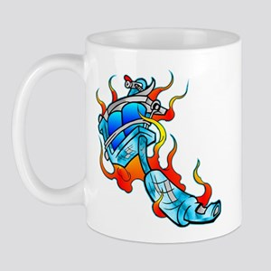 Flaming Tattoo Machine Mug