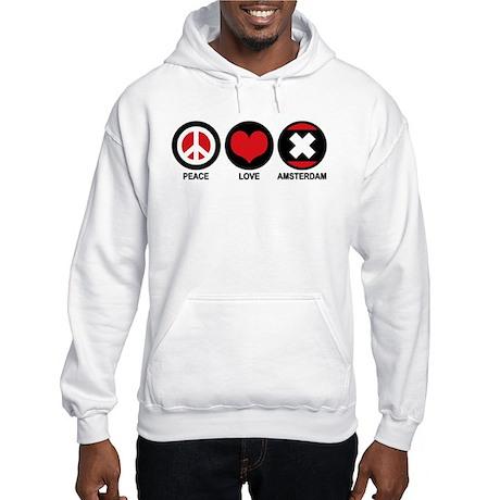 Peace Love Amsterdam Hooded Sweatshirt