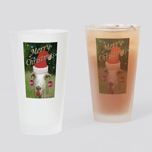 Ruby the Christmas Goat Drinking Glass