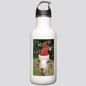 Ruby the Christmas Goat Stainless Water Bottle 1.0