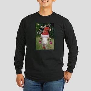 Ruby the Christmas Goat Long Sleeve Dark T-Shirt