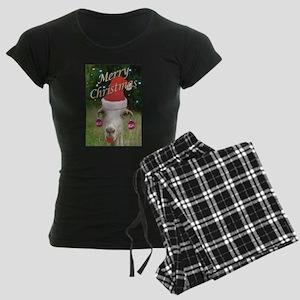 Ruby the Christmas Goat Women's Dark Pajamas