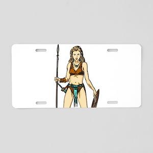 Legend Of Amazon Women Aluminum License Plate