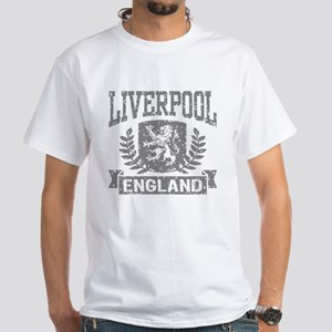 Liverpool England White T-Shirt