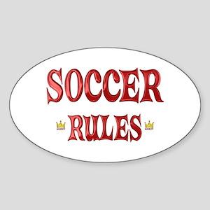Soccer Rules Sticker (Oval)