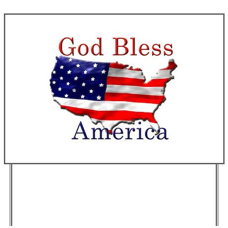 God Bless America Yard Sign