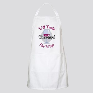 Will Trade Husband For Wine Apron