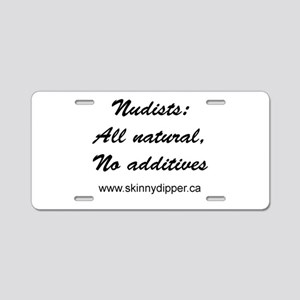 Nudists: All Natural Aluminum License Plate