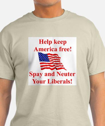Keep America Free Ash Grey T-Shirt