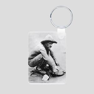 The Old Prospector Aluminum Photo Keychain