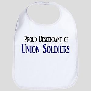 Proud Descendant Of Union Soldiers Bib