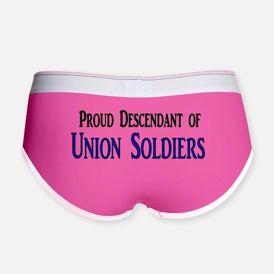 Proud Descendant Of Union Soldiers Women's Boy Bri
