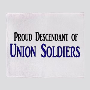 Proud Descendant Of Union Soldiers Throw Blanket