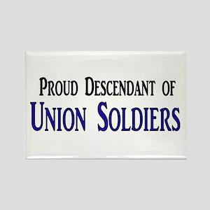 Proud Descendant Of Union Soldiers Rectangle Magne