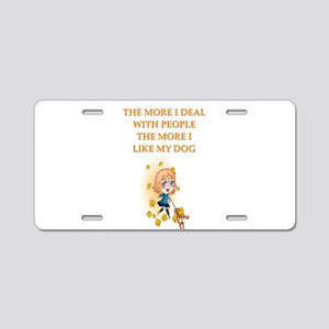 psych patients Aluminum License Plate