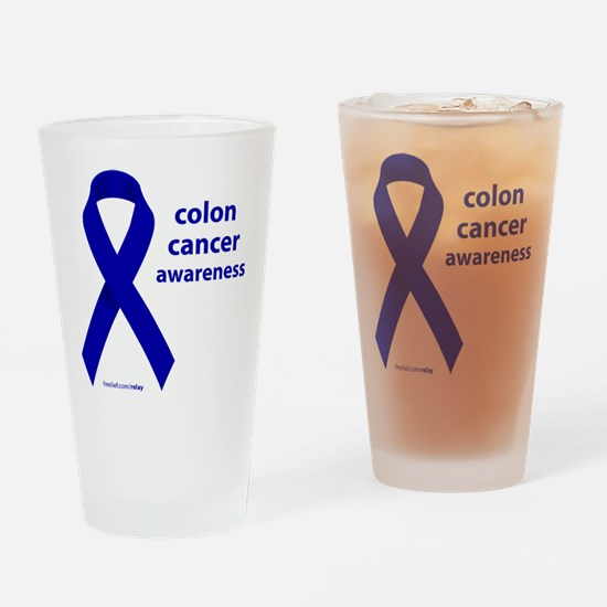 Colon Cancer Drinking Glass