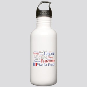 France - Liberty, Equality, F Stainless Water Bott