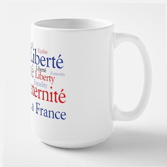 France - Liberty, Equality, F Large Mug