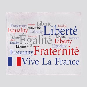 France - Liberty, Equality, F Throw Blanket