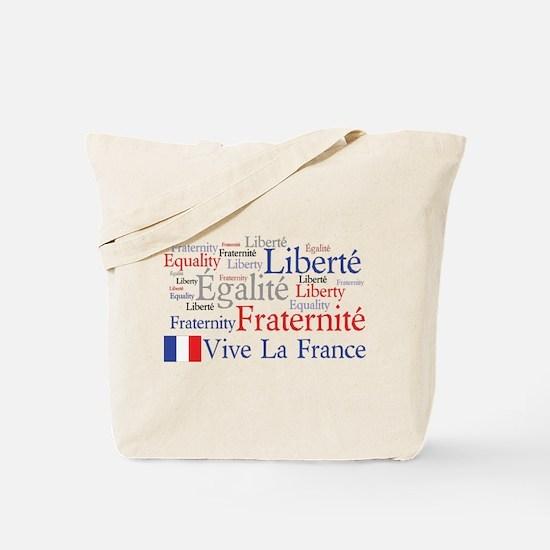 France - Liberty, Equality, F Tote Bag