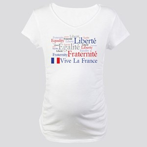 France - Liberty, Equality, F Maternity T-Shirt