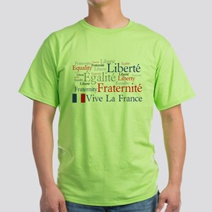 France - Liberty, Equality, F Green T-Shirt
