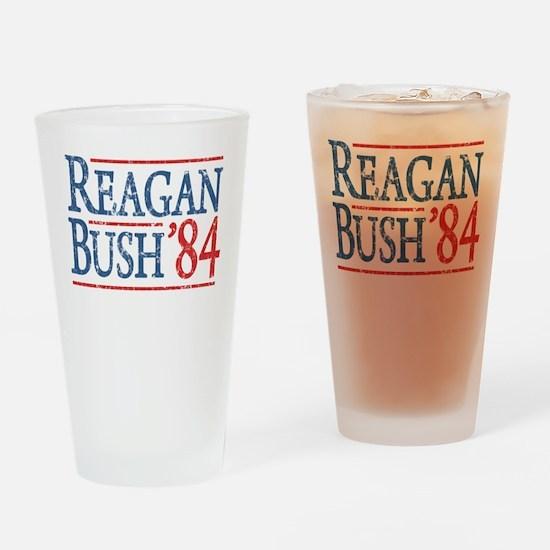 Reagan Bush 84 retro Drinking Glass
