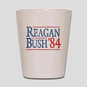 Reagan Bush 84 retro Shot Glass
