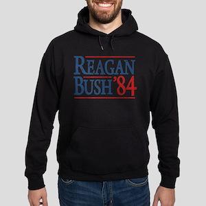 Reagan Bush 84 retro Hoodie (dark)