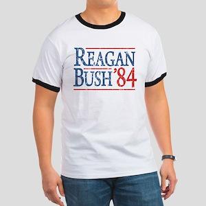 Reagan Bush 84 retro Ringer T