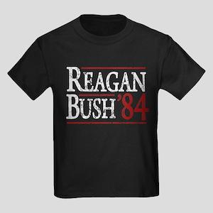 Reagan Bush 84 retro Kids Dark T-Shirt