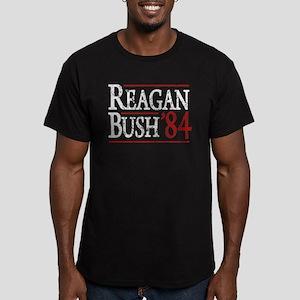Reagan Bush 84 retro Men's Fitted T-Shirt (dark)