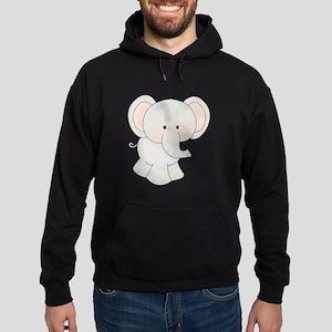 Cartoon Elephant Hoodie (dark)