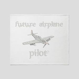 Future Airplane Pilot Throw Blanket