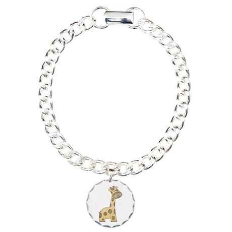 Cartoon Giraffe Charm Bracelet, One Charm