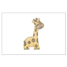 Cartoon Giraffe Large Poster
