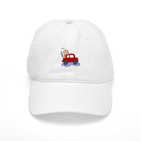 Stick Girl Washing Car Cap