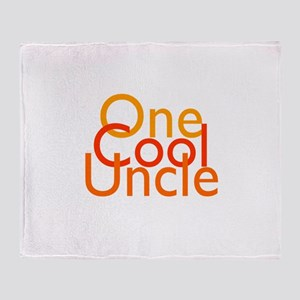 One Cool Uncle Throw Blanket