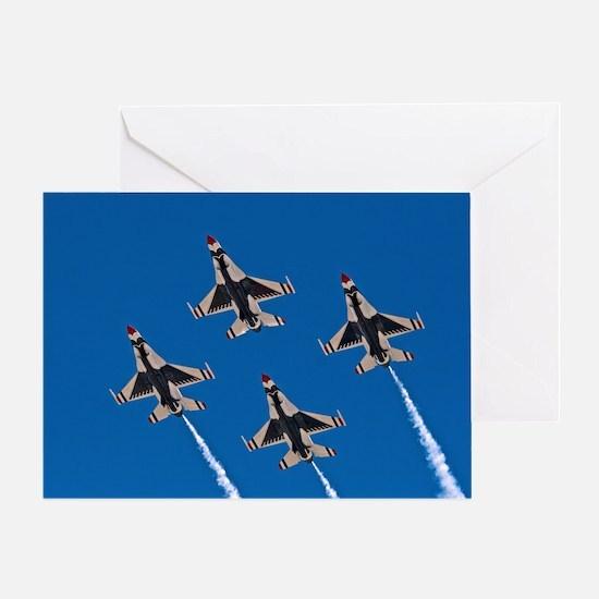 Thunderbirds 4 Bird Side Greeting Card