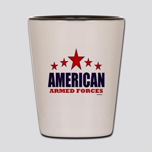 American Armed Forces Shot Glass