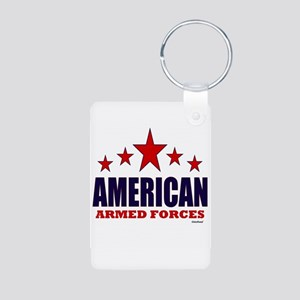 American Armed Forces Aluminum Photo Keychain