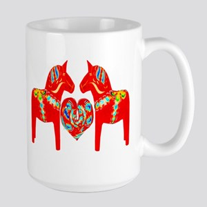 Swedish Dala Horses Large Mug