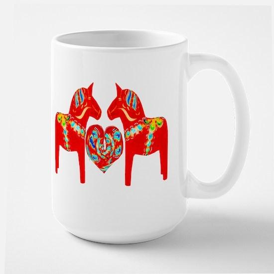 Swedish Dala Horses Large Mug
